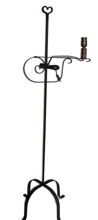 Amish Made Wrought Iron Electric Lighting - Floor Lamps ...