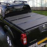Nissan Navara D40 Eagle1 Hard Tri Fold Tonneau Cover Eagle 4x4