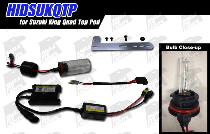 2007 suzuki ltr 450 wiring diagram cat5e atv eagle eye lights 2005 king quad top pod hid kit hidsukqtp