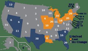 Electoral College Map 2012