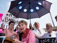 Phyllis joined the demonstration against Planned Parenthood in St Louis on July 28th.