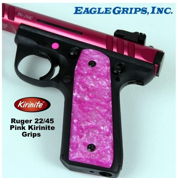 Ruger 22 45 Mkiii .22lr. Pink Kirinite Grips