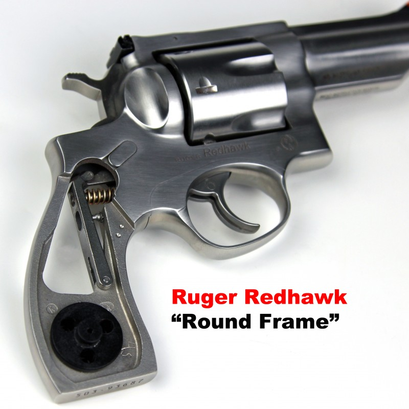 Ruger Redhawks Round Butt American Elk Grips Panel Size