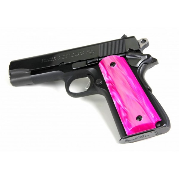 Officer' 1911 - Kirinite Pink Perfection Pistol Grips