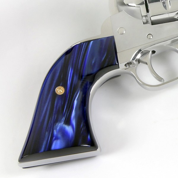 Ruger Vaquero Kirinite Blue Pearl Gunfighter Grips - Year of