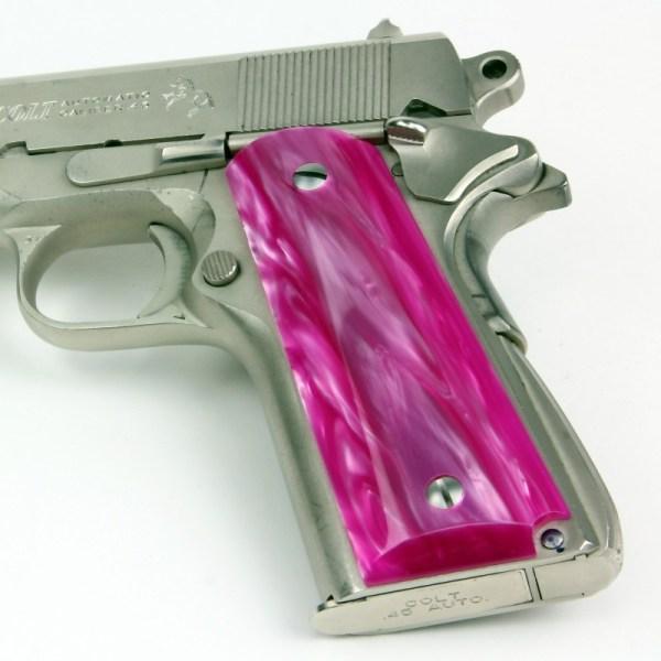 1911 - Kirinite Atomic Pink Pistol Grips
