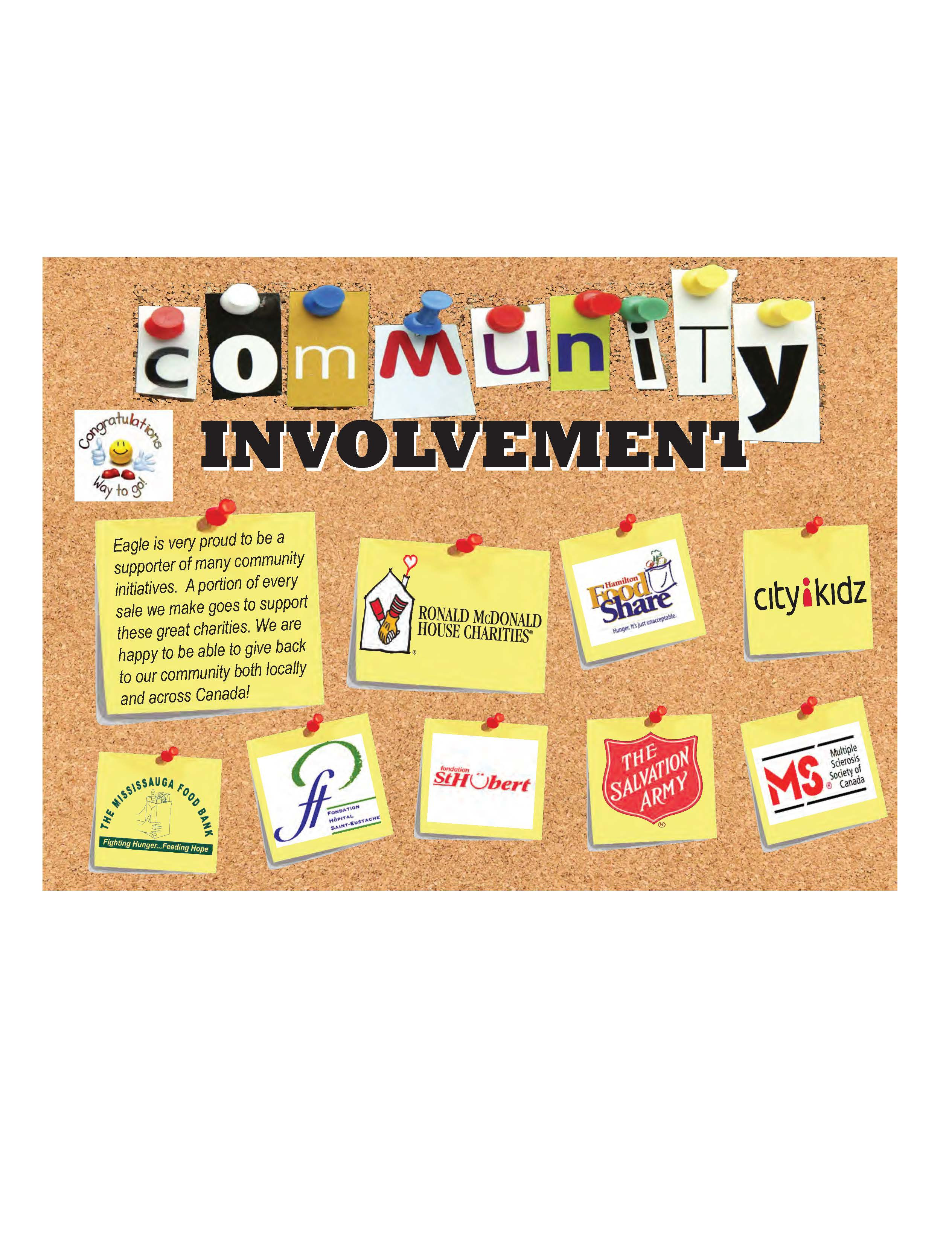 Community Involvement - Eagle Indsutries Corp