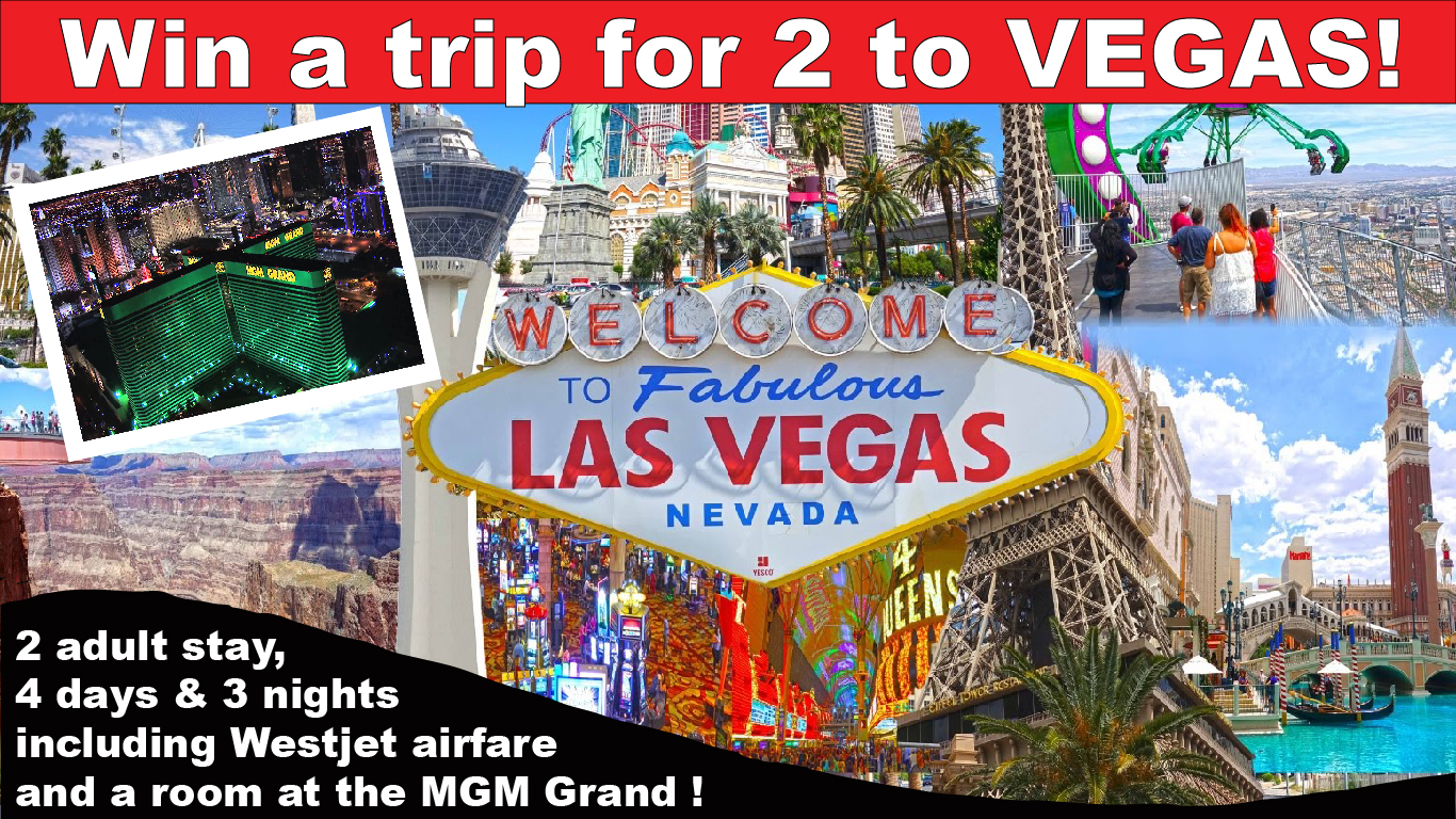 Click here to enter the draw for trip for 2 to Las Vegas