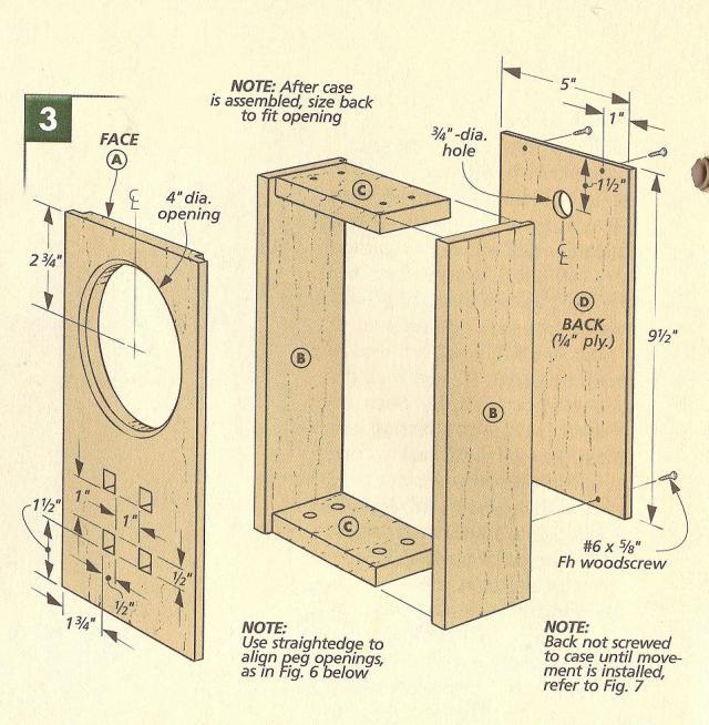 Arts and Crafts Mantel Clock Plans