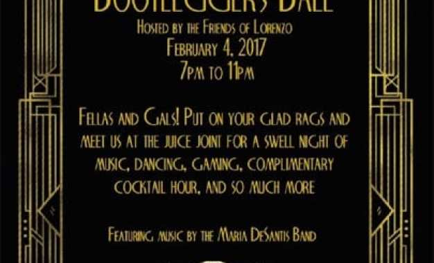 Friends of Lorenzo to present the Bootleggers Ball fundraiser