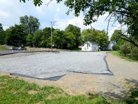 The area to b used for the new village park and playground. (photo by Jason Emerson)