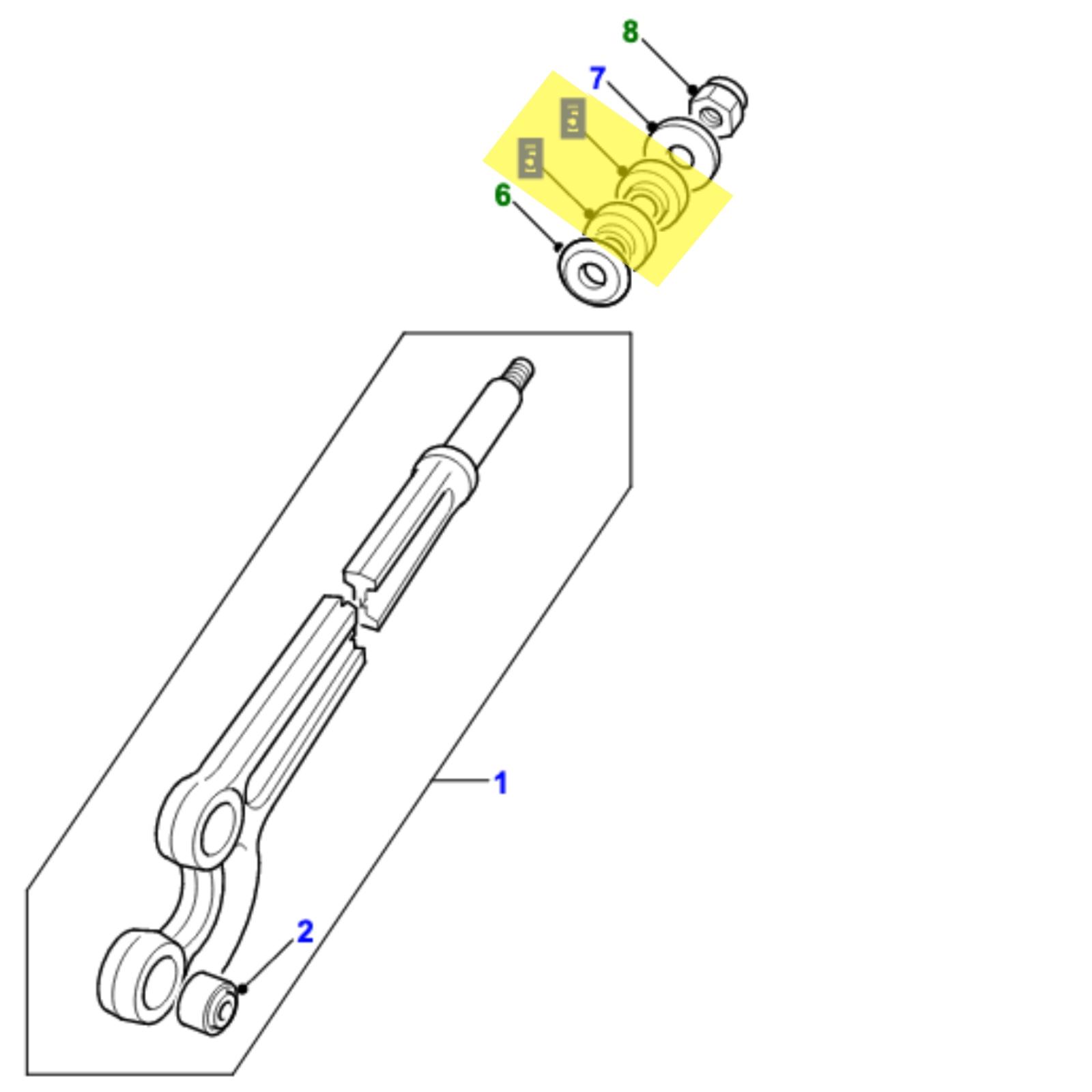 Kit boccole puntone anteriore per Land Rover Defender fino