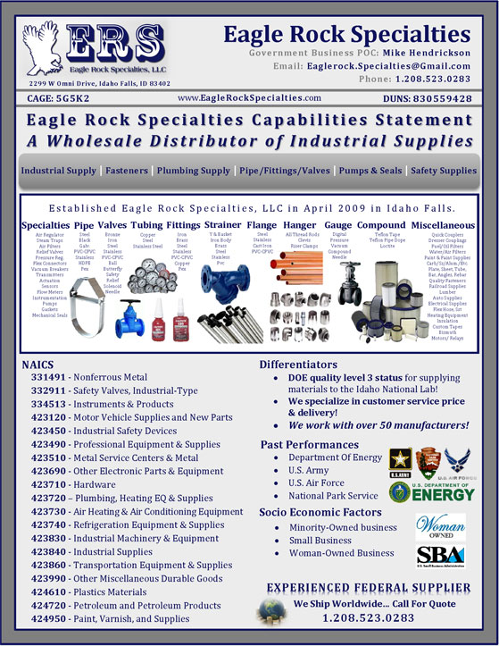 Eagle Rock Specialties Capability Statement