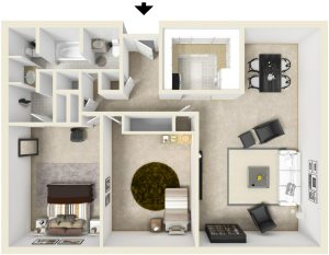 2 Bed / 1½ Bath / 874 ft² / Deposit: $300 / Rent: $755