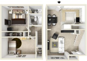 2 Bed / 2 Bath / 894 ft² / Deposit: $300 / Rent: $810