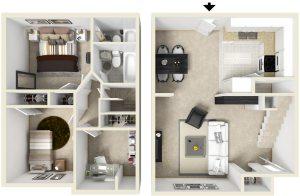 3 Bed / 2 Bath / 985 ft² / Deposit: $300 / Rent: $1,145