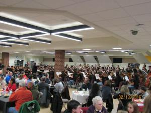 The Orchestra playing at the 2/13/16 Spaghetti Dinner