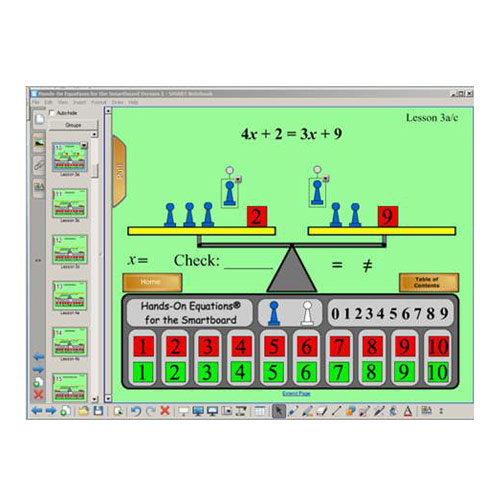 Hands On Equations For The SMART Board Five User License Classroom Resources Amp Supplies