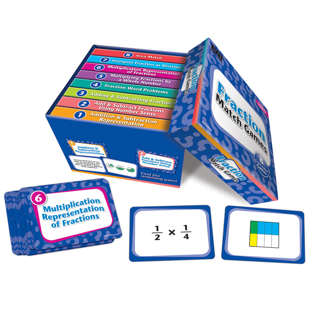 hight resolution of Fraction Match Games: Grade 5 - Web Exclusives   EAI Education