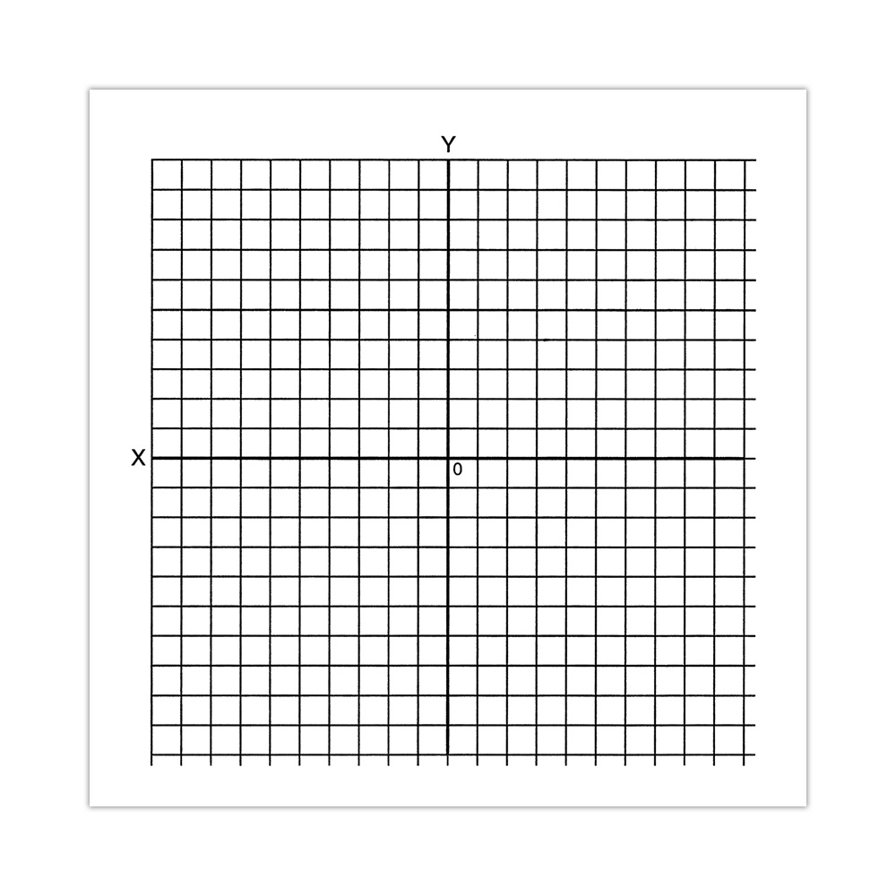 Graph Paper Stickers, Accentuated XY Axis (Roll of 500