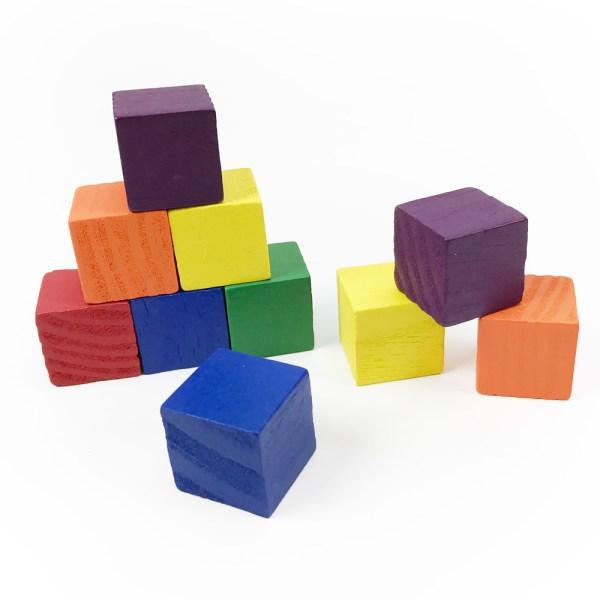 Wooden Cubes 2cm Color - Set Of 102 Common Core State