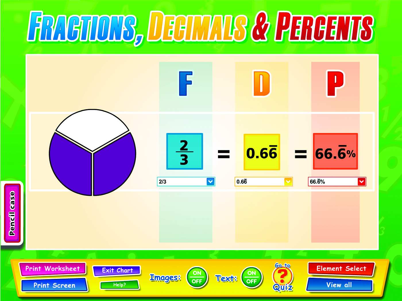 Fractions Decimals Percentages Interactive Whiteboard
