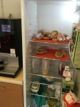The fridge full of fika sandwiches for donors to help recovering.