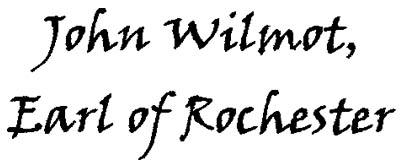 John Wilmot, Second Earl of Rochester