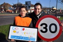 Cllr Mahfouz with pupil Chantelle Nayyer