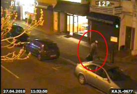 CCTV images outside Spicy King