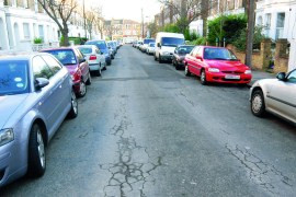 cars parked on a street
