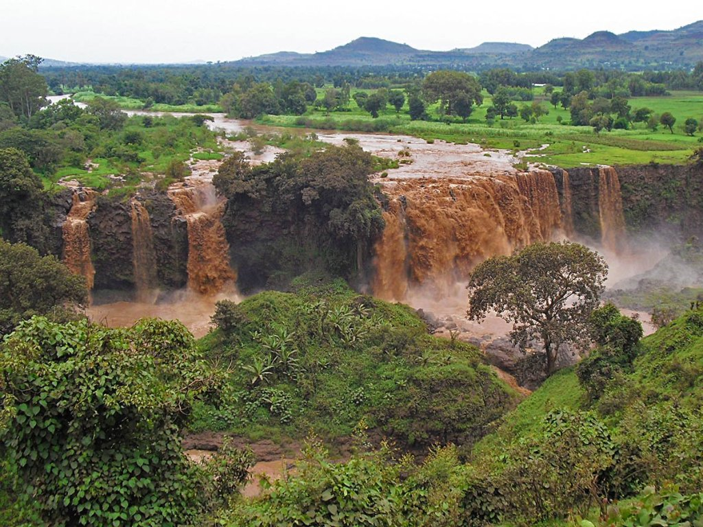 Casctae Nilo Blu-NIlo blu-cascate di Bahir Dar-Bahir Dar-Amara region-Etiopia-Africa