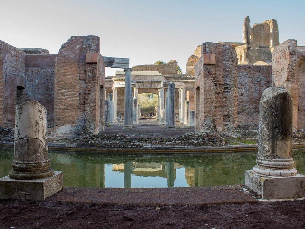 scavi archeologici-parco archeologico-villa adriana-Tivoli-Lazio-Italia-Europa
