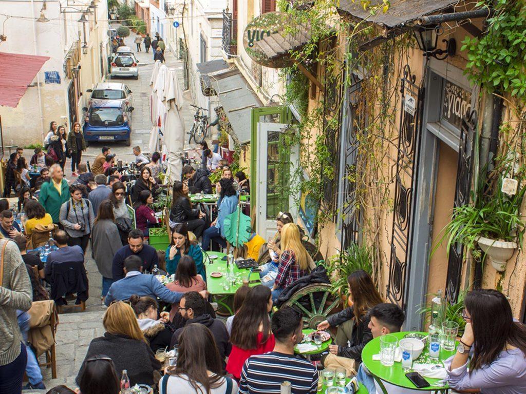 Anafiotika-dove mangiare ad Atene-Atene-Grecia-Greece-Athens-Europa