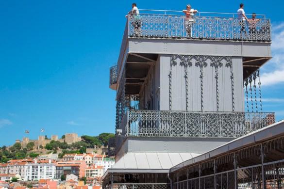 panorama da elevador de santa justa-elevador de santa justa-Lisbona-lisbon-Portogallo-Europe-Europa