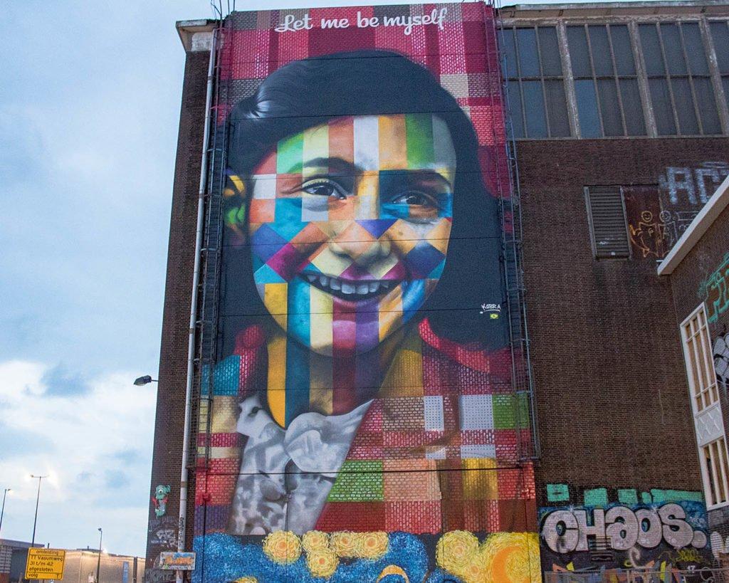 Anna Frank-murales Anna Frank-street art Amsterdam-NDSM-Amsterdam-Olanda-Holland-Netherlands-Paesi Bassi-Europa-Europe