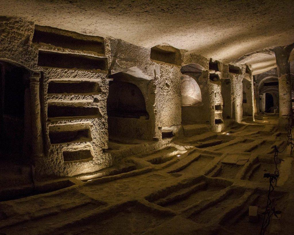 Catacombe di -catacombe di Napoli-Napoli sotterranea-Napoli-Campania-Italia