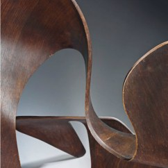 Herman Miller Chair Hammock Stand Wood Plywood Sculpture | Eames Office