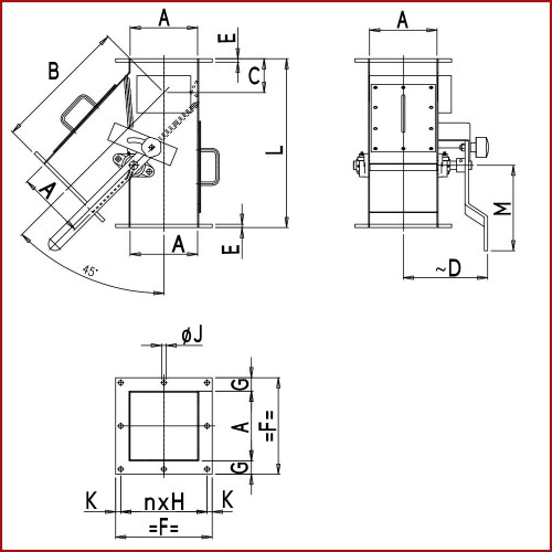 small resolution of manual asymmetric two way chute