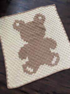 Cuddly Teddy Bear Crochet Baby Blanket Pattern | AllFreeCrochet.com | 300x225