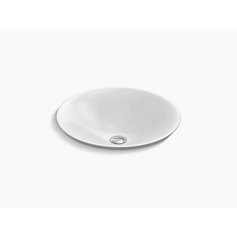 kohler 78060 carillon white round semi recessed basin