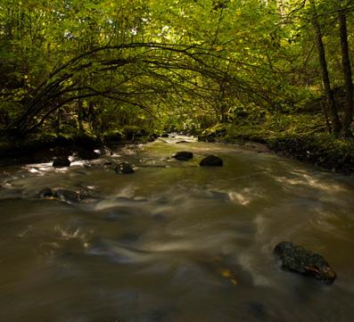 Vattnet rinner genom en tunnel