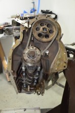 TD21 engine rebuild - timing gear and timing chain
