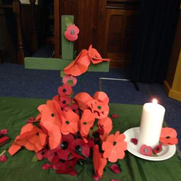 Messy church does remembrance