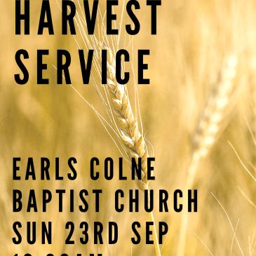 Harvest service this Sunday!
