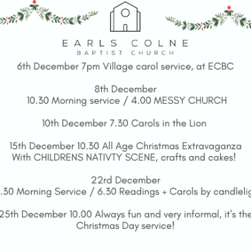Our Christmas services this December!