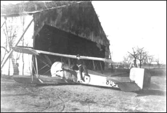 Meinecke sitting on the captured Bristol D