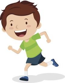 Children Running Clip Art