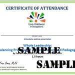 Certificates - Early Childhood Webinars