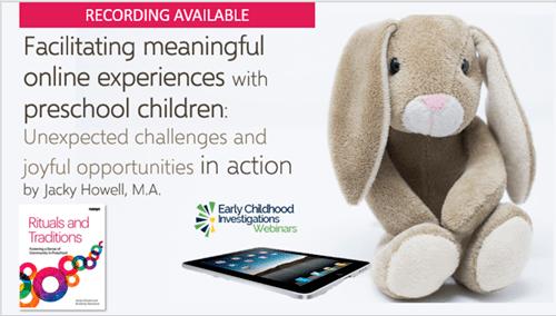 Facilitating online experiences for preschool children